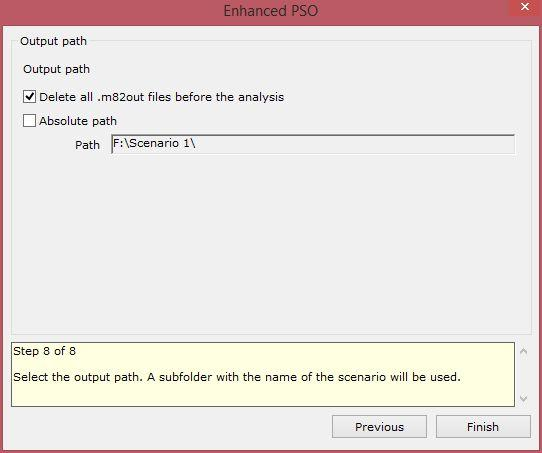 enhanced particle swarm optimization xloptimizer options step 8